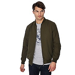 Jacamo - Big and tall khaki 'woody' bomber jacket