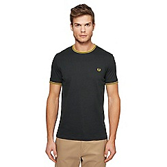 Fred Perry - Dark green embroidered logo tipped t-shirt