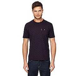 Ben Sherman - Big and tall navy target print t-shirt
