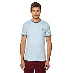 Fred Perry - Light blue embroidered logo t-shirt