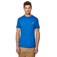 Fred Perry - Bright blue embroidered logo 'Ringer' t-shirt