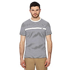 Fred Perry - Navy and white striped t-shirt