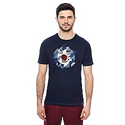 Ben Sherman - Big and tall navy chevron target print t-shirt