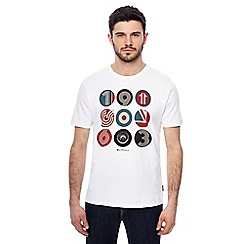 Ben Sherman - Big and tall white target logo print t-shirt