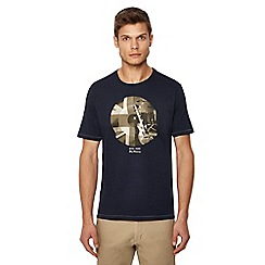 Ben Sherman - Big and tall navy graphic print t-shirt