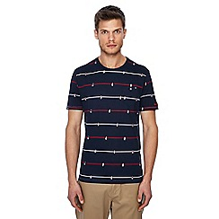 Ben Sherman - Big and tall navy table football print t-shirt