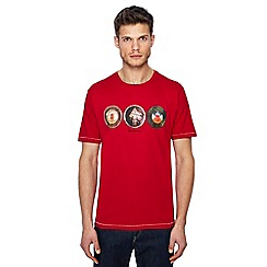 Ben Sherman - Big and tall red vintage football print t-shirt