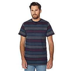 Jacamo - Navy spotted striped t-shirt