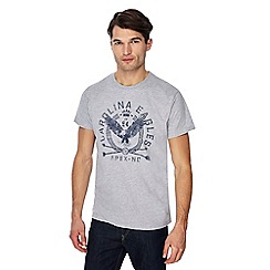 Jacamo - Grey graphic print t-shirt
