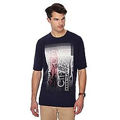 Jacamo - Navy NYC print t-shirt
