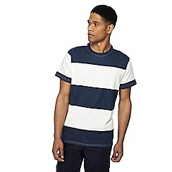 Jacamo - Navy block stripe t-shirt