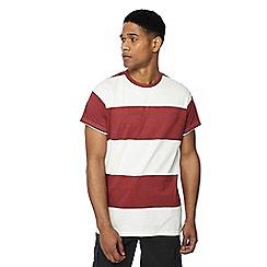 Jacamo - Red block stripe t-shirt