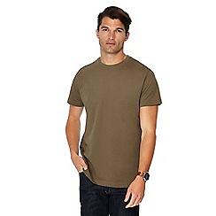 Jacamo - Khaki crew neck t-shirt