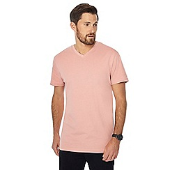 Jacamo - Pale peach V-neck t-shirt