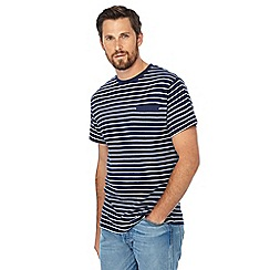 Jacamo - Blue striped long length t-shirt