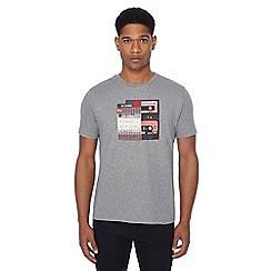 Ben Sherman - Grey mix tape print t-shirt