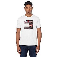 Ben Sherman - White mix tape print t-shirt
