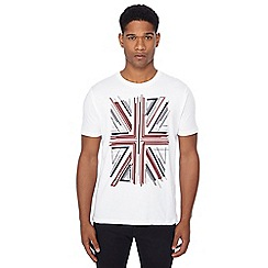 Ben Sherman - White Union Jack print t-shirt