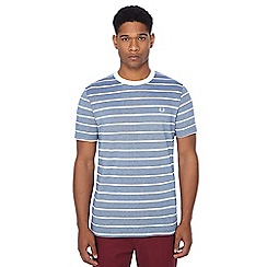 Fred Perry - Light blue Oxford stripe pique textured t-shirt