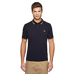 Fred Perry - Navy tipped embroidered logo polo shirt