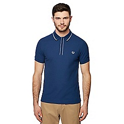 Fred Perry - Blue tipped placket polo shirt