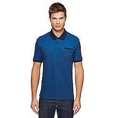 Ben Sherman - Blue Oxford polo shirt