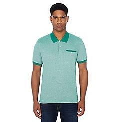 Ben Sherman - Green Oxford polo shirt