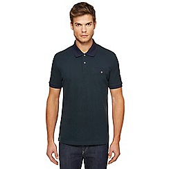 Ben Sherman - Dark green Oxford polo shirt