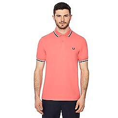 Fred Perry - Coral embroidered logo polo shirt