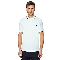 Fred Perry - Light green tipped embroidered logo polo shirt