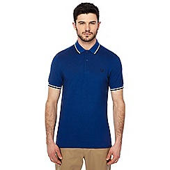 Fred Perry - Blue tipped embroidered logo polo shirt