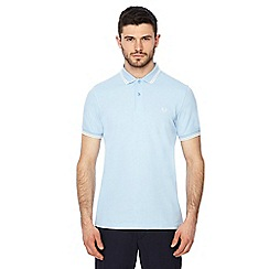 Fred Perry - Pale blue embroidered logo polo shirt