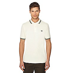 Fred Perry - Off white embroidered logo polo shirt