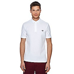 Fred Perry - White pique textured polo shirt