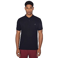Fred Perry - Black embroidered logo polo shirt