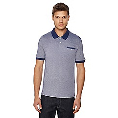 Ben Sherman - Big and tall blue tonic oxford polo shirt