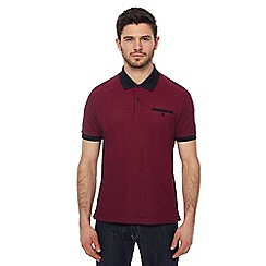 Ben Sherman - Big and tall purple oxford tonic polo shirt