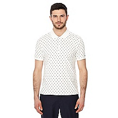 Ben Sherman - Big and tall white geometric floral print polo shirt