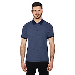 Ben Sherman - Navy printed polo shirt
