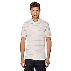 Ben Sherman - Big and tall natural stripe print polo shirt