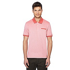 Ben Sherman - Big and tall pink tonic oxford polo shirt