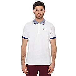 Ben Sherman - White birdseye collar polo shirt