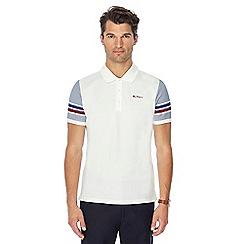 Ben Sherman - White stripe sleeve polo shirt
