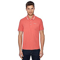 Ben Sherman - Big and tall pink embroidered logo polo shirt