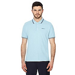 Ben Sherman - Big and tall light blue embroidered logo polo shirt
