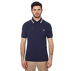 Fred Perry - Blue textured collar polo shirt