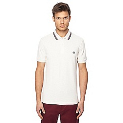 Fred Perry - Natural textured collar polo shirt