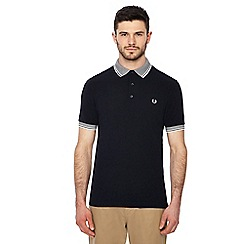Fred Perry - Navy tipped polo shirt