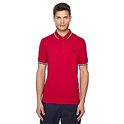 Fred Perry - Pink tipped collar polo shirt