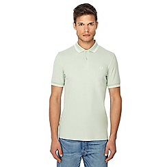 Fred Perry - Light green embroidered logo regular fit polo shirt
